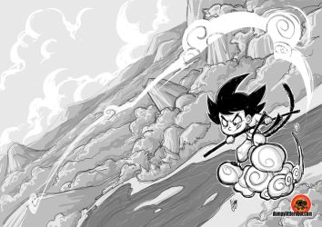 Morning Sketch: Goku by AbigailRyder