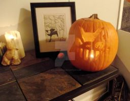 Grinning Cat (Halloween 2013) by SpellboundFox