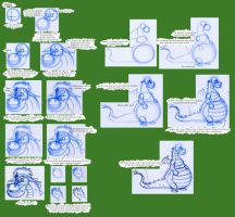 Notes on Disney Dragons: Elliot by Expression