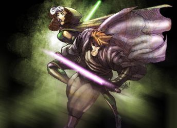 JEDI GAMBIT AND ROGUE by toonfed