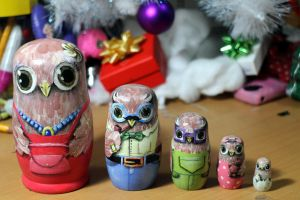 Matryoshka owl family by ItsMyUsername