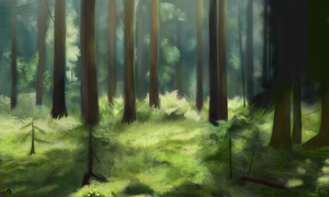 Semi-realistic forest by DivLight