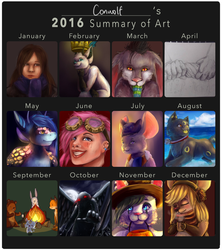 2016 Summary of Art by conwolf