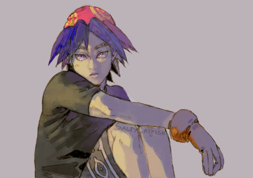 Chrono Cross: Serge by saltycatfish