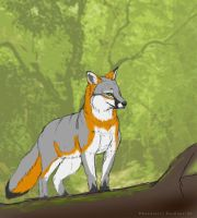 grey fire in the forest by EosFoxx