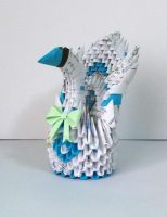 3D Origami Recycle Swan by designermetin