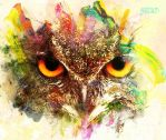 Eagle Owl Colorful by AStoKo