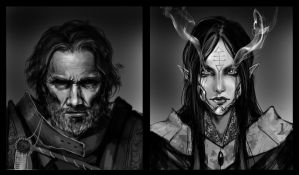 40k portraits part 1 by muju