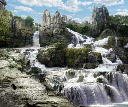 Waterfall Valley by Kordovah