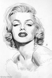 Marilyn Watercolor 2 by Thubakabra