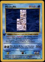 MissingNo. Card by blankspacerejects