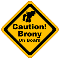 Caution, Brony on Board by RDbrony16