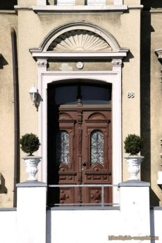 Front door with gable by ambosshg