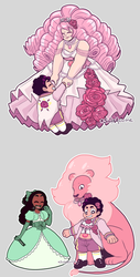 steven universe Queen Rose extras by SoloAzume