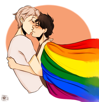 Yuri on Ice Pride by TheNeslee