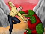 kirk vs gorn by alleckx