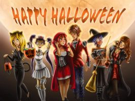 Night of Halloween W.I.T.C.H by Banditcat123