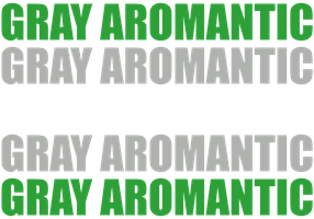 Gray Aromantic Typography by Pride-Flags