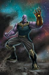 THANOS INFINITY WAR (colored version) by DAVID-OCAMPO
