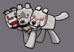Minecraft Cerberus by ghostfire