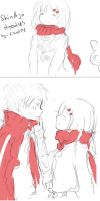 ShinAya [kagerou project]_just doodles-_-/ by ChappyVII
