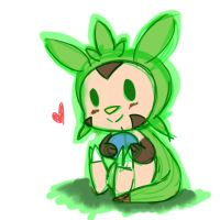 Chespin Rough sketch by SweetAbby1624