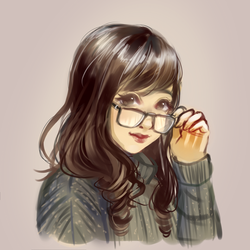 Glasses Girl by Moossey