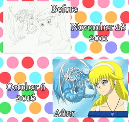 .Redraw Again Meme Before and After #3. by FMAandYGO5dsgirl