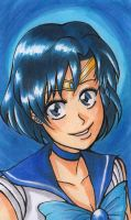 Smile, Sailor Mercury by shirabara