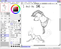 My first picture in the program PaintToolSAI by AvantisArt