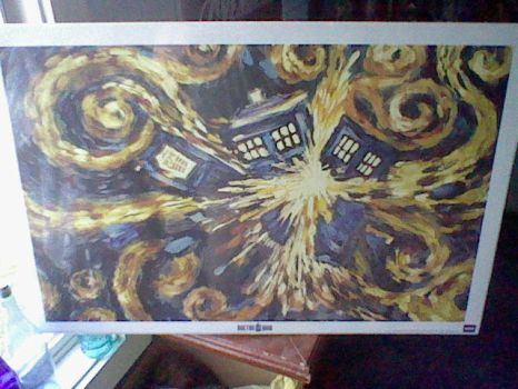 My first Doctor Who poster by Long-lost-sister