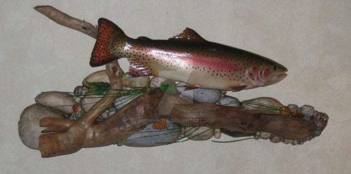 Rainbow Trout Wall Mount by Fishknots