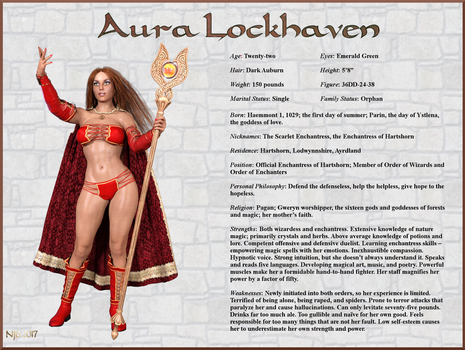 Aura Lockhaven Character Card by Nathanomir