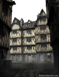 half timbered houses by svenart