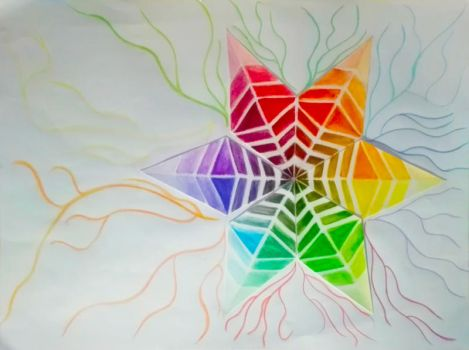 Chromatic wheel or star by VictoriasArtGC