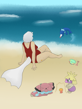 Day at the shore by AmberLepu