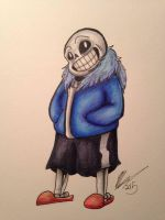Sans the Skelly by ThatWeirdDrawinChick