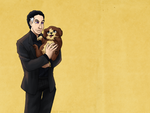 Wallpaper - Cohen and Puppy by ErinPtah