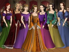 The Little Mermaid Princesses, Tudor Style by TFfan234