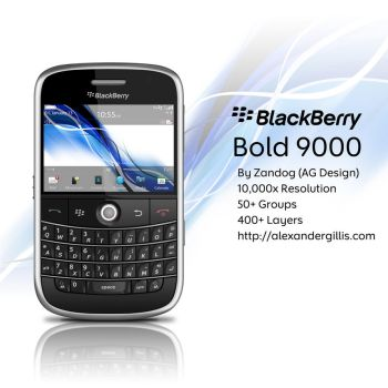 RIM BlackBerry Bold 9000 .PSD by zandog
