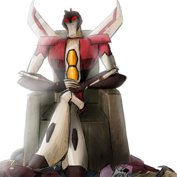 Lord Starscream by Crococheese