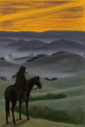 The Black Rider by rufious