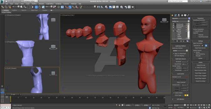 Body Polygon Modelling (preview) part 1 by NeutralHumanity
