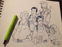 Inktober2015 -- The Real Ghostbusters by The-Z