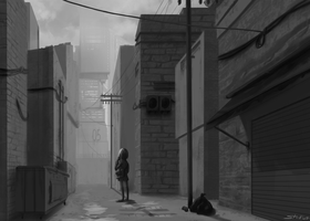 Alleyway by Sticklet
