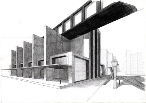 Drawing architecture by mariospider