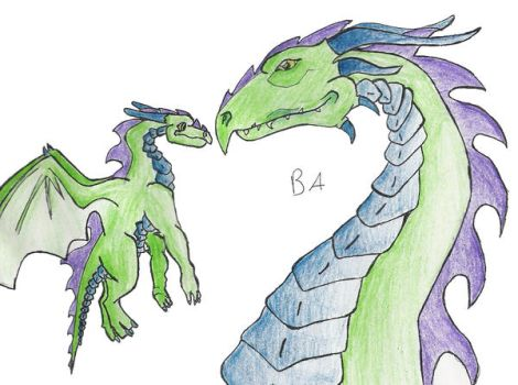 Father Son Dragons by BaconLady