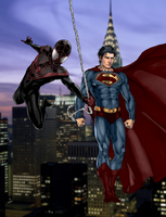 Ultimate Spider-man and Earth One Superman -Final- by SUPERMAN3D