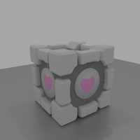 Companion Cube by SiverCat
