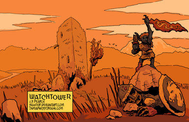 Watchtower (inktober, colored) by Sighter